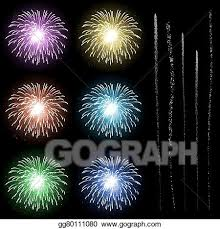 new year s template vector art firework rocket explosion template with rocket