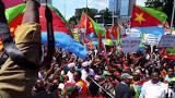 Image result for eritrean demonstration in geneva 2018