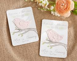 seed paper love blossoms personalized garden wedding favor card Seed Cards Wedding Favors love bird personalized seed paper cards (set of 12) plantable seed cards wedding favors