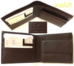 100 authentic gucci fabulous guccissima embossed genuine leather brown bi fold wallet with snap coin pocket inside