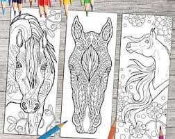 Color pictures of autumn leaves, pumpkins, scarecrows, apple trees and more! Bookmarks To Color Etsy