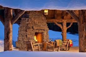 rustic spanish furniture. View In Gallery Stump Side Tables, Wooden Chairs And Cozy Stone Fireplace Make A Magical Rustic Spanish Furniture U