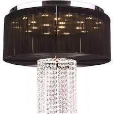 worldwide lighting corporation alice collection 9 light led chrome finish and clear crystal with black string shade 20 d x 18 h round large