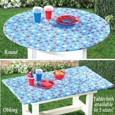 round outdoor tablecloth with elastic stars wipe clean