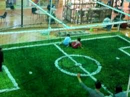 soccer field grass. Kids Playing On Indoor Mini Soccer Field Grass