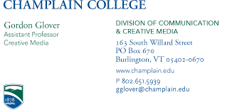 Business Cards Name Tag Samples Marketing Department Champlain