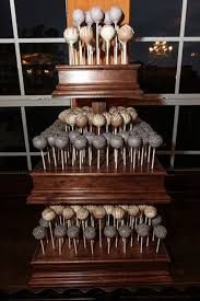 3 Tier Custom Made Wood Square Cake Pop Stand with Matching
