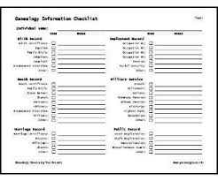 Where To Buy Genealogy Charts Genealogy Source Checklist Free Genealogy Forms Charts