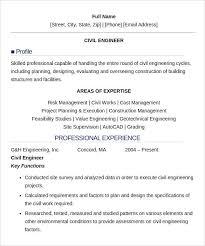 40 Civil Engineer Resume Templates Free Samples PSD Example Fascinating Resume Of Civil Engineer Fresher