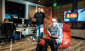 photo microsoft office redmond washington. Donovan Brown Visits The Channel 9 Studio In Redmond, Washington, With Fiancée Chelsea Franklin Photo Microsoft Office Redmond Washington