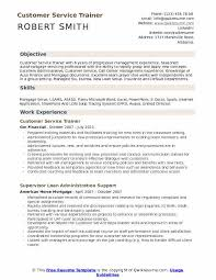 Resume Objective Samples Customer Service Customer Service Trainer Resume Samples Qwikresume