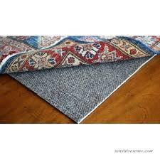 rubber rug pad stuck to floor