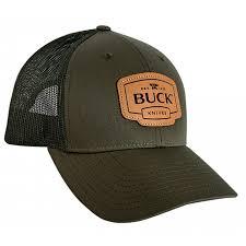 <b>Бейсболка Buck Leather</b> Patch Cap темно-зеленая (89139) купить ...