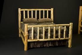 Custom Made Wilderness Log Bed Frame | furniture | Log bed frame ...