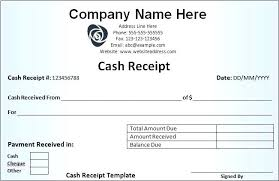 Cash Payment Receipt Template Free Printable For Moontex Co