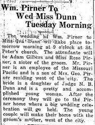 William and Iva Pirner Wedding Announcement - Newspapers.com