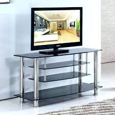 3 shelf tv stands industrial stand glass