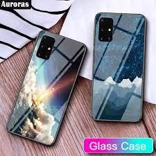 Ốp Kính Cường Lực Cho Samsung Galaxy A71 A51, Ốp Điện Thoại Thiên Hà Tuyết  Trên Núi Thiên Hà Bảo Vệ Điện Thoại
