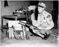 Cuban guns, 26 May 1958. Sergeant Edward Tunstall;Bren gun ...