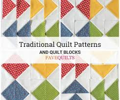 Patchwork Quilt Patterns Interesting 48 Traditional Quilt Patterns And Quilt Blocks FaveQuilts