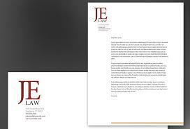 Attorney Law Firm Letterhead Design Layout Letterhead