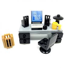 Office lego Detective Mini Sets Lego Office Signature Bricks Lego Office Desk With Computer Keyboard And Accessories Signature