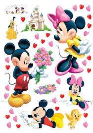 Nálepky Na Stenu Mickey Minnie Mouse Srdiečka