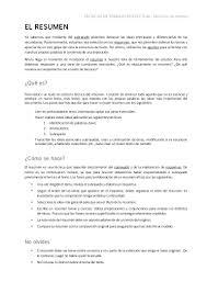Hacer Resume El Resumen Y Ejemplos 18