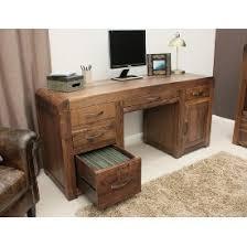 walnut office furniture. Shiro Walnut Twin Pedestal Computer Desk Office Furniture