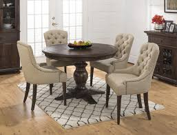 white round pedestal dining table. Dining Tables, Enchanting Round Pedestal Table Set For 4 Black Wooden White N