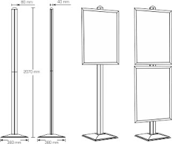 Multiple Poster Display Stands Ores Display Systems Dynamic Poster Stand Simple a pano 67