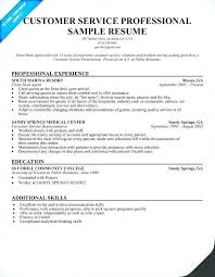 Provided Customer Service Resumes Free Customer Service Resume Examples Sample For Samples Resumes