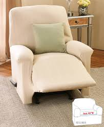 darla stretch cable slipcovers recliner cover natural
