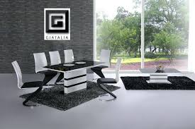 black dining table set with leather chairs full size of black and white dining room set