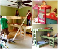 diy triple bunk beds these are the best bunk bed ideas