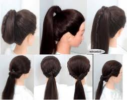 Quick Ponytail Hairstyles Quick And Easy Ponytail Hairstyles For Medium Hair Fusion Hair