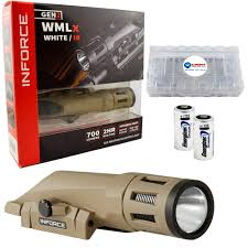 Inforce Ir Light Inforce Wmlx White Ir Gen2 700 Lumens Led Weapon Mounted Light Bundle With 2 Extra Cr123a Batteries And A Battery Box