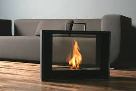 Faux Stone Portable Fireplace  Traditional  Indoor Fireplaces Portable Fireplaces