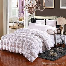 winter white goose down comforter warm duvet quilted thicken quilt blanket 100 cotton outer layer bedding twin king queen comforters bedding quilt