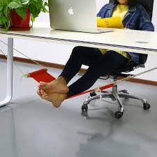 accmart office desk feet hammock