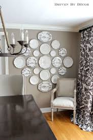 Hanging Plates to Create a Decorative Plate Wall, or we could find  different sized round