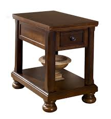 chair side table. round end table with drawer   chairside tall storage chair side