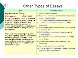 how to understand types of essays