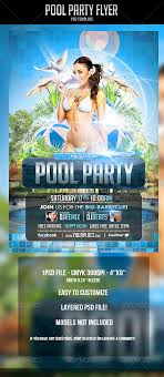 pool party flyer template by odin design graphicriver pool party flyer template clubs parties events