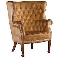 tufted leather wingback chair monumental tufted leather wingback chair at 1stdibs