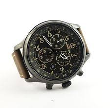 timex expedition rugged field chronograph t499059j wrist watch for timex t49905 men s expedition brown leather strap field chronograph watch new