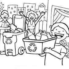 Small Picture Family Learn the Use of Recycling Coloring Page Coloring Sky