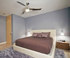 modern ceiling fan with lights for bedroom and unique bedside table plus upholstered king size bed bedroom lighting ceiling