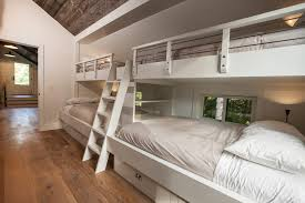 cool bunk beds built into wall. Impressive Twin Over Queen Bunk Bed Vogue Other Metro Transitional Kids Inspiration With Barn Built-in Beds Cool Built Into Wall