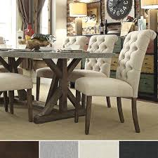 Benchwright Premium Tufted Rolled Back Parsons Chairs Set Of 2 By Inspire Q  Artisan By Inspire
